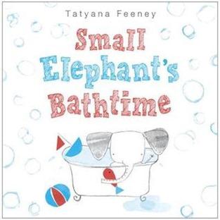 small elephants bathtime